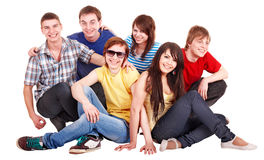 Group of happy young people. Royalty Free Stock Photo