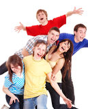 Group of happy young people. Stock Images