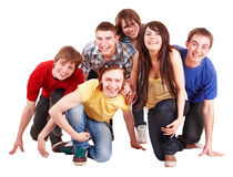 Group of happy young people. Royalty Free Stock Images