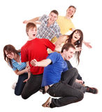 Group of happy young people. Stock Photos