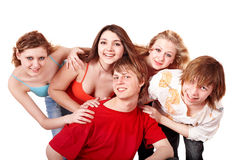 Group of happy young people. Stock Photography