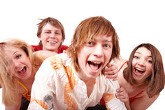 Group of happy young people. Royalty Free Stock Image