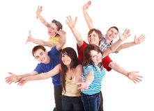 Group of happy young people. Royalty Free Stock Photos