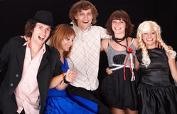 Group of happy young people . Royalty Free Stock Image