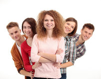 Group of happy young people Royalty Free Stock Photography