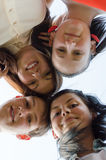 Group of happy young people best friends outdoors Royalty Free Stock Photography