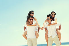 Group of happy young people have fun on summer day Royalty Free Stock Photography