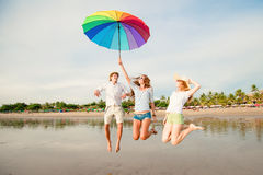 Group of happy young people having fun on the Royalty Free Stock Photo