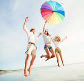 Group of happy young people having fun on the Royalty Free Stock Image