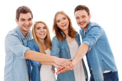 Group of happy young people Stock Photo