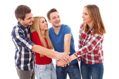 Group of happy young people Royalty Free Stock Image