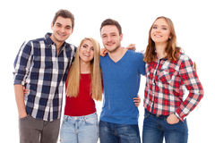 Group of happy young people Stock Photos