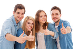 Group of happy young people Stock Images