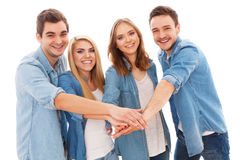 Group of happy young people Stock Image