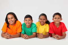 Group of happy young school friends together Royalty Free Stock Images