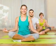 Group having yoga class Royalty Free Stock Photo