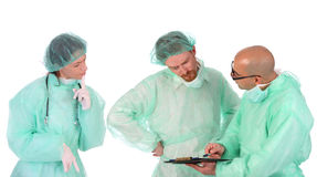 Group of healthcare workers. Arguments on workplace Royalty Free Stock Images