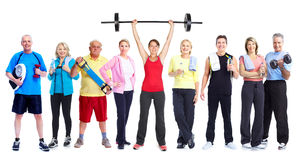 Group of healthy fitness people. Stock Image