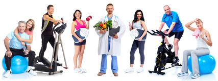 Group of healthy fitness people. Royalty Free Stock Images