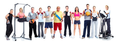 Group of healthy fitness people. Stock Photo