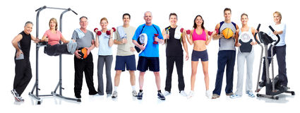 Group of healthy fitness people. royalty free stock photo