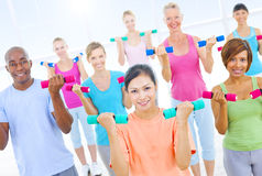 Group of Healthy People in Fitness Stock Photos