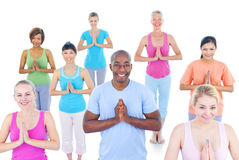 Group of Healthy People in the Fitness Royalty Free Stock Photography