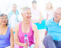 Group of Healthy People in the Fitness Royalty Free Stock Images