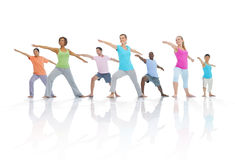 Group of Healthy People in Fitness Stock Photography