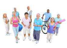 Group Healthy People Fitness Concept Stock Images