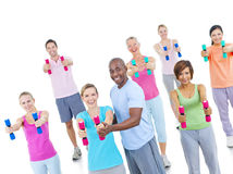 Group Healthy People Fitness Concept Stock Photos