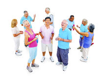 Group of Healthy People in the Fitness Exercising Concept Royalty Free Stock Photography