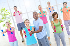 Group Healthy People Fitness Exercising Relaxation Concept Royalty Free Stock Image