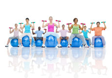 Group Healthy People Fitness Healthcare Concept Stock Photo
