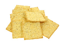 Stone Ground Wheat Crackers Royalty Free Stock Image