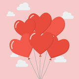 Group of heart balloons Stock Photography