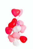 Group of heart shaped balloons Stock Photography