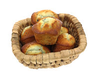 Group Heart Shaped Muffins Basket Stock Photos