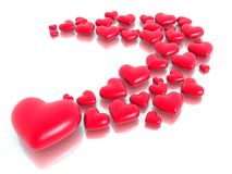 Group of heart stone Stock Photography