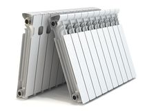 Group of heating radiators Stock Photography