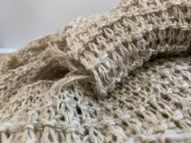A group of hemp fibers Patterns of natural fibers into the fabric Hand-made products from villagers as abstract background royalty free stock images