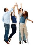Group high five Stock Photos