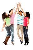 Group high-five Stock Images