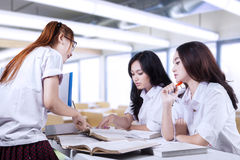 Group of high school students in class Stock Photos