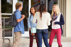 Group Of High School Students Standing Outside Building Royalty Free Stock Photos