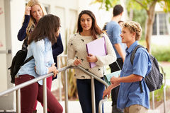 Group Of High School Students Standing Outside Building Royalty Free Stock Image