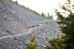 Group hike Royalty Free Stock Photos