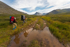 Group of hikers. Stock Photography