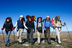 Group of hikers Royalty Free Stock Photography