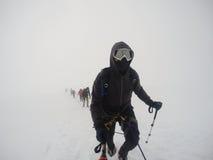 Group Hiking glacier Hvannadalshnukur summit in Iceland mountain landscape Vatnajokull park 7 Royalty Free Stock Photography